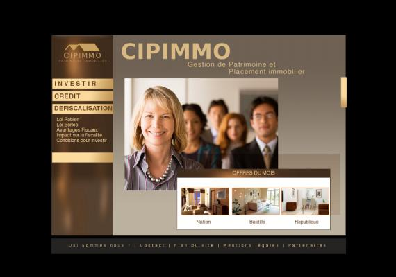 CIPIMMO - Site catalogue immobilier - www.cipimmo.fr.